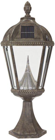 "Royal Solar LED Bronze 23"" High Outdoor Post Light -"