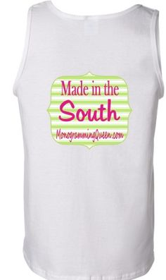 Monogram Made in the South Tank top your monogram on the front $18