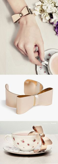 Adorable Bow Cuff in Rose Gold