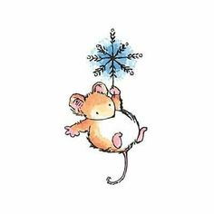 Cute illustrations - Christmas Mouse Ornament by Penny Black, Inc.