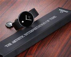 Nye og brugte herreure - Rolex, Cartier, Omega, Breitling - Omega 'Art Collection Max Bill'. NOS herreur i stål og sort keramik, ca. 1987 - DK, Vejle, Dandyvej
