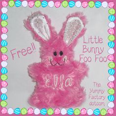 Free in the hoop Little Bunny Foo Foo for you!! Happy Easter my Friends! This little Personalized Embroidered bunny is sure to put a smile in your Easter Basket.