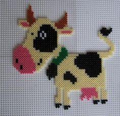 Cow hama beads by perleshama30