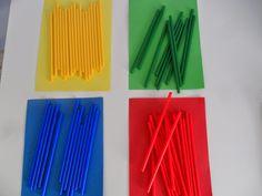 Materiales para Educación Infantil: CLASIFICAR PAJITAS I