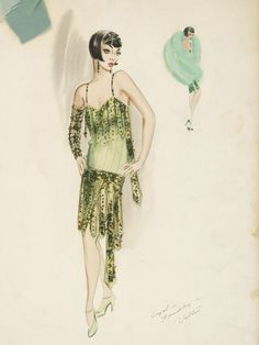 """Costume design by Walter Plunkett for Cyd Charisse in """"Singin' in the Rain,"""" (1952)."""