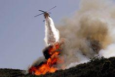 Fighting California wildfire May2/13