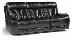 Flexsteel Furniture: Reclining Sofas: DerekLeather Power Reclining Sofa (1133-62P)