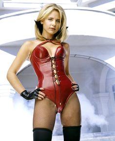 Sarah Michelle Gellar. Red Bustier