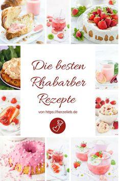 Rhabarber Rezepte, Rezeptsammlung: die 11 besten Rhabarber Rezepte von herzelieb. Ob Kuchen, Dessert, Marmelade oder Brotaufstrich - da ist für jeden etwas dabei! #rhabarber #rhubarb #rezepte #rezept #recipes