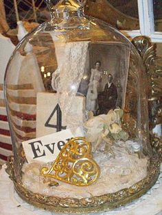 """I love this """"4 ever"""" and a photo could be an Anniversary or Wedding or Shower center piece maybe for Chris and my 25th? H."""