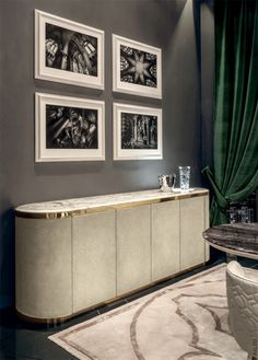 Luxury furniture | modern white sideboard with brass details |www.bocadolobo.com #modernsideboard #sideboardideas