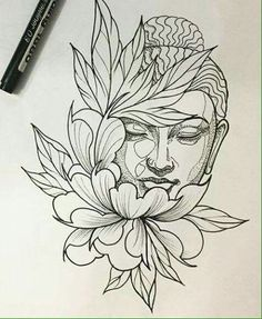 "Ergebnis für Praying Buddha Tattoo Bild Ergebnis für Praying Buddha Tattoo ""Convoque seu Buda o clima ta tenso""✍🍂 Buddha Drawing, Buddha Painting, Buddha Art, Lotus Drawing, Buddha Head, Tattoo Sketches, Tattoo Drawings, Drawing Sketches, Art Drawings"