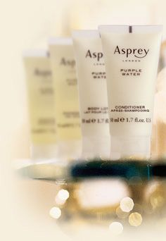 Asprey London® bath amenities to enjoy...