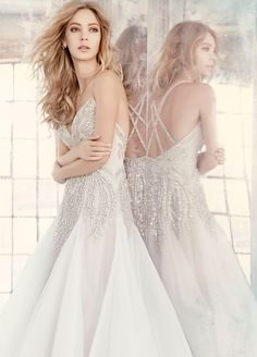 Bridal Gowns, Wedding Dresses by Hayley Paige - Style HP6608Ad Shot