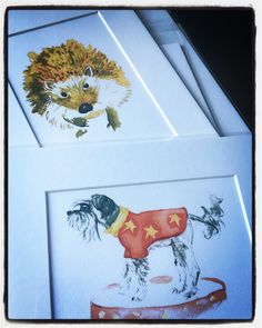 Some prints ready to be packed up and sent out