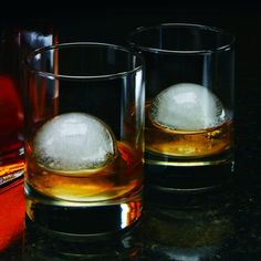Extra large ice balls that keep drinks colder for longer. The mold costs $8.95, and lets you create two at once.