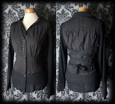 Goth Brown Pinstripe BEGUILING Lace Up Corset by AusterexxDevotion