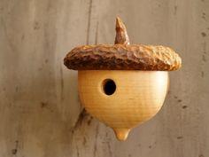 Woodland Acorn Birdhouse -   Rustic Little Birdhouse -  Bird Lover Gift