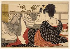 Kitagawa Utamaro (Japanese: 喜多川 歌麿; c. 1753 – 31 October 1806). Most of the distinguished ukiyo-e artists such as Utamaro and Hokusai are known to have produced shunga, elevating it to the realm of high art.