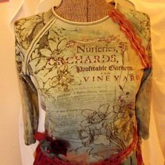 Embellished French Market Tunic Top Blue Russet by GypsythatIwas, $38.00