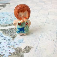 Hand carved wood angel Tiny doll Little by MilasikiWoodenDolls