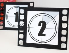 This is a listing of freestanding Movie film table numbers from 1-10. Perfect for any movie/ hollywood themed event! Made out of thick cover