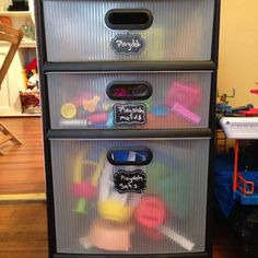 Playdoh storage I did