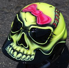 AIR BRUSHED BATTING HELMET WITH SOFTBALL SKULL **** RAWLINGS COOLFLO **** RCFBH #RAWLINGS #SOFTBALL #BASEBALL #AIRBRUSH #HELMET