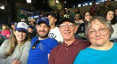 KC Royals Baseball Game Kara schmidt Robben Daniel, Melvin &  Patty Silkman Robben