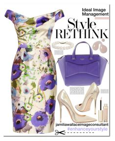"""""""Ideal Image"""" by jamilia-wallace on Polyvore featuring Lela Rose, Kate Spade, Jimmy Choo, Blue Nile and By Terry"""