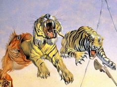 Salvador Dali: Gala and the Tigers (detail) - 1944
