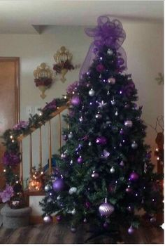 Purple Christmas Tree This Could Convince Me To Put A Up
