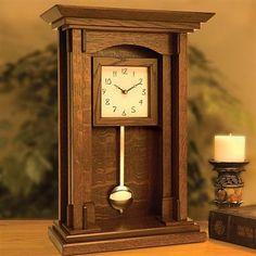 Buy Arts and Crafts Pendulum Clock - Downloadable Plan at Woodcraft.com #WoodworkingClocks