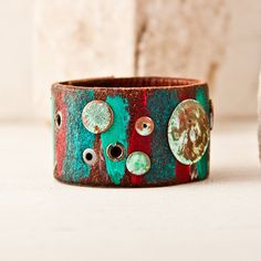 Spring Bracelet Cuff Leather Jewelry Wristband Unique Original Unusual March Finds Cuffs For Women