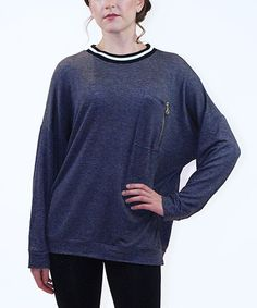 Look at this #zulilyfind! Charcoal Zip-Pocket Dolman Sweatshirt by BLVD #zulilyfinds