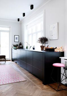 line klein. i think most kitchens we see are often brightly lit, colorful and cheerful places to...
