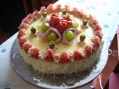 mňamka Entree Festive, Salty Cake, Pie, Pudding, Breakfast, Sweet, Cakes, Image, Torte