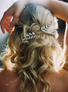 Bridal Headpiece, Crystal Hair Pins, Rhinestone Fern Bobbies, Set of 2 -Style 3116 Medium Hair Styles, Short Hair Styles, Hair Jewels, Best Wedding Hairstyles, Prom Hairstyles, Trendy Hairstyles, Wedding Hair Inspiration, Stylish Hair, Bridal Beauty