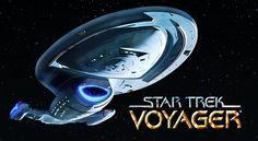 Star Trek Voyager hit the tv screen in 1995 and ran for seven seasons. The Voyager series was the brain child of Rick Berman, Michael Piller,. Star Trek Tv Series, Star Trek News, Sci Fi Tv Series, Star Trek Voyager, Best Tv Shows, Favorite Tv Shows, Jerry Goldsmith, Captain Janeway, Star Trek Universe
