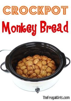 Crockpot Monkey Bread Recipe! ~ from TheFrugalGirls.com ~ there's nothing quite as delicious as this Slow Cooker cinnamon sugar ooey-gooey goodness! It's so easy to make and SO yummy for a breakfast treat or dessert!
