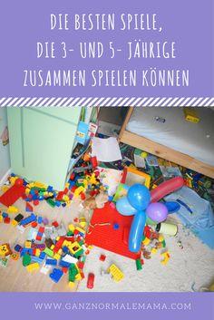 Tipps für Spiele, die Drei- und Fünfjährige zusammenspielen können.