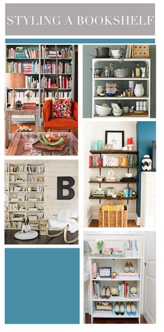 tips on how to style a bookshelf