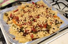 Low-Calorie #Vegan, Lentil Chip Nachos