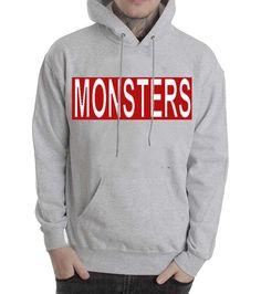 Monsters grey Hoodies