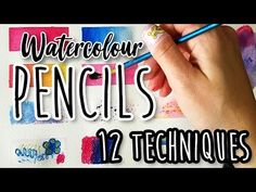 Drawing Tutorials How to Use Watercolour Pencils for Beginners - 12 Techniques Tutorial - YouTu Watercolor Pencils Techniques, Watercolor Pencil Art, Watercolor Paintings For Beginners, Watercolor Tips, Watercolour Tutorials, Drawing Techniques, Watercolour Painting, Watercolours, Painting Flowers