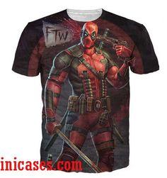 New Womens//Mens Bare Harley Quinn and Deadpool 3D Print Casual T-Shirt Tops Tee