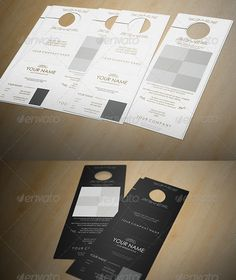 Modern Real Estate Business Door Hanger You will receive a Light and Dark version of this ultra clean and contemporary design which can be applied to your specific situation. It is extremely simple to edit with colour coordinated categories, concisely labelled layers and smart objects.