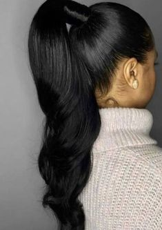 Wow Black woman's hairstyles. Wow Black woman's hairstyles. More from my site Unique braided ponytail hair tutorial 60 new hairstyle for woman in 2019 23 High Ponytail Hairstyles, Ponytail Styles, High Ponytails, Weave Hairstyles, Curly Hair Styles, Cool Hairstyles, Natural Hair Styles, Sleek Ponytail, Hairstyles 2016