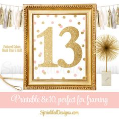 13th Birthday Party  Thirteenth Birthday  by SprinkledDesign