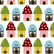 Little Gnome Homes-Mayabella Spoonflower fabric